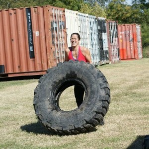 Badass Laura Flipping a Tire. Guess who is loving CrossFit???