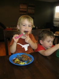 The carnitas wasn't going in fast enough for Julian. He had thirds tonight!