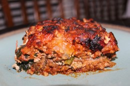 Close up of my first ever 100% Paleo Lasagna. It was more than Paleo good, it was finger licking G-O-O-D!