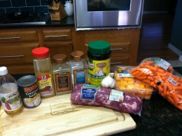 Crock Pot Paleo Coconut Curry Pork Tenderloin Stew Ingredients