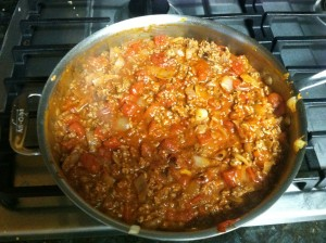 Final product for the homemade tomato sauce