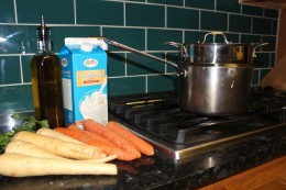 Paleo Parsnip and Carrot Puree Ingredients