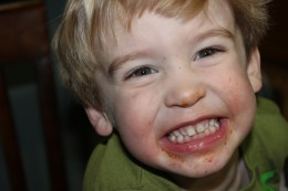 This is what Paleo lasagna will do to your toddler. Is this a face of a satisfied customer or what?