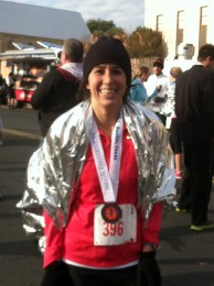"""Victory shot on a """"cold"""" Texas day after completing the 3M Half marathon in Austin 2013"""