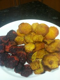 One more for good measures, homemade oven roasted beet chips
