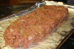 Doesn't this paleo meatloaf look heavenily? After mixing all the ingredients, I formed it into a loaf on a lined cookie sheet