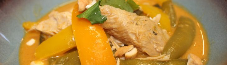Close up of my Paleo Crock Pot Red Curry Chicken. I love the colors and the TASTE! Try it and see for yourself!