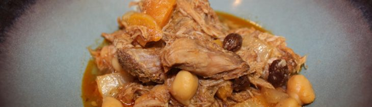 Close up of the finished product of the Leftover Makeover: Pork Moroccan Stew