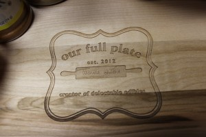Have I mentioned how much I love my personalized OurFullPlate cutting board?!?!?