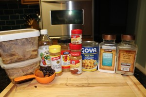 Leftover Makeover: Moroccan Pork Stew Ingredients