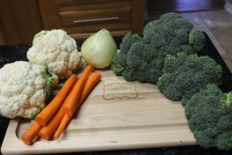 Look how beautiful the produce looks for my Paleo Broccoli Vegetable Soup? Amazing!