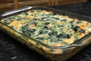 The final product after roasting in the oven, My Paleo Pork Sausage Veggie and Egg Breakfast Casserole is ready to be devoured!