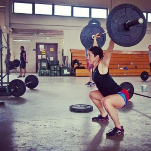 Doing overhead squats at 3 months preggo