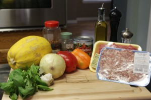Homemade Paleo Ground Beef and Pork Tomato Meat Sauce Version 2.0 Ingredients