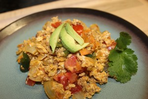 Getting up close and personal with this Yummy Paleo Migas. If your mouth is NOT watering right now, then YOU ARE NOT HUMAN