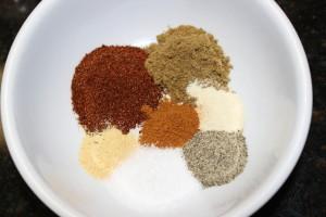 Homemade spice rub for my Paleo Crock Pot Beef Fajitas