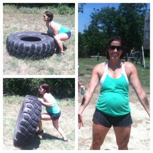 Who says you can't get dirty when preggo? 7 months and tire flipping. Love it!