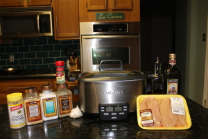 Paleo Crock Pot Garlic and Balsamic Chicken Ingredients