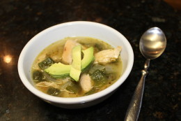 And that's it. Let it simmer for 30 minutes and there you have it, my Paleo Roasted Chicken and Poblano Soup