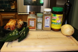 Paleo Roasted Chicken and Poblano Soup Ingredients