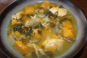 Close up of the soup all mixed up. So good and so easy!