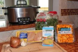 Crock Pot Chicken Butternut Squash and Kale Soup Ingredients