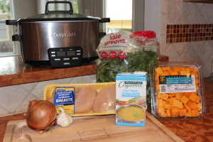 Crock Pot Chicken Butternut Squash and Kale Soup Ingredients