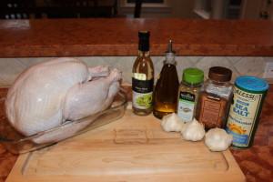 My Cuban Inspired Turkey with my Garlic Mojo Marinade Rub Ingredients