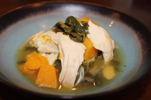 Look how juicy that chicken looks. This Crock Pot Chicken, Butternut Squash and Kale Soup is goign to be your new favorite meal. PROMISE