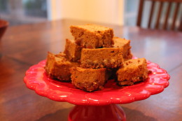 Love the texture of the Paleo Pumpkin Pie Bars. Again I thought they were great on thier own, but you can definitely add homemade whipping cream using the leftover canned coconut milk