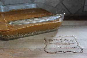 Love you can see the layers of these delicious Paleo Pumpkin Pie Bars