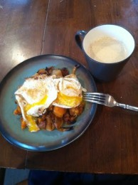 Using the Paleo Roasted Butternut Squash and Chorizo Stuffing as Hash for Breakfast