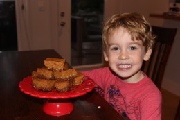 Why is it easy to recruit little helpers when you are making yummy Paleo Pumpkin Pie Bars?