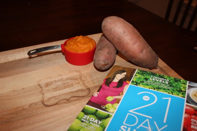 "My 21DSD Sweet Potato Puree ""Pick Me Up"" that saved me while doing the detox the second time around. It's sweet and not only satisfies that sweet tooth craving but it gives you the extra energy you need after an intense workout. Try it!"
