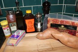 Paleo Bacon wrapped Sweet Potatoe ingredients