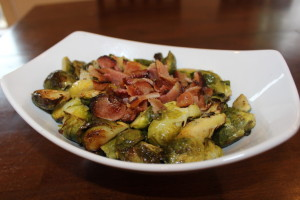 Paleo Roasted Brussel Sprouts and Bacon! Enough said!