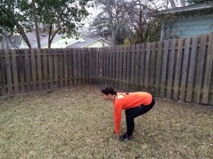 Second position is keep your feet together and arms close and tight to your body. When you drop your knees will point out like a natural squat position