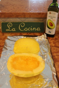 Love the side by side comparison. What your spaghetti squash looks like BEFORE it goes into the oven