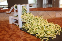 Is this not the best kitchen appliance ever? It makes Zucchini Zoodles in minutes!