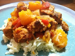 Another close up of my Chicken Tagine with Butternut Squash