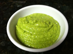 Avocado Tomatillo Sauce Close up