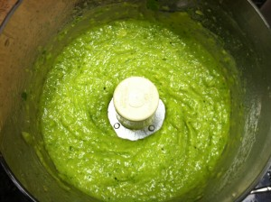 Avocado Tomatillo blended together