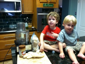 Banana Ice Cream Ingredients and my mini chefs