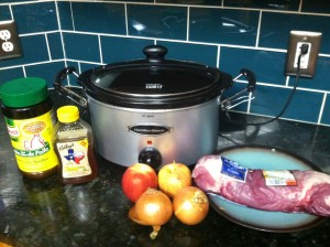 Paleo Crock Pot Apple and Honey Pork Tenderloin Ingredients