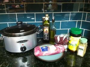 Crock Pot Paleo Balsamic and Cranberry Pork Tenderloin Ingredients