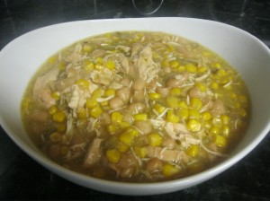 Green Chile Chicken ready to eat