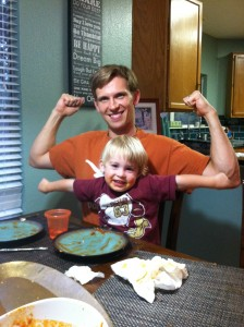 Healthy food means big muscles in our house