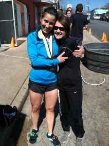 My marathon coach/ friend/ mentor Amy