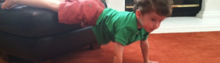 Jackson demonstrating elevated push up