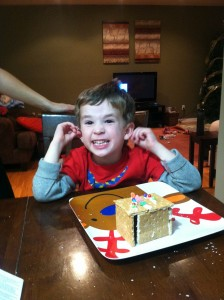A Kid friendly, edible version of a ginger bread house